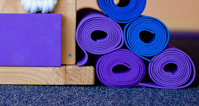Rolled up Yoga mats
